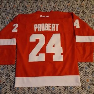 Bob Probert Detroit Red Wings Figt Strap Jersey